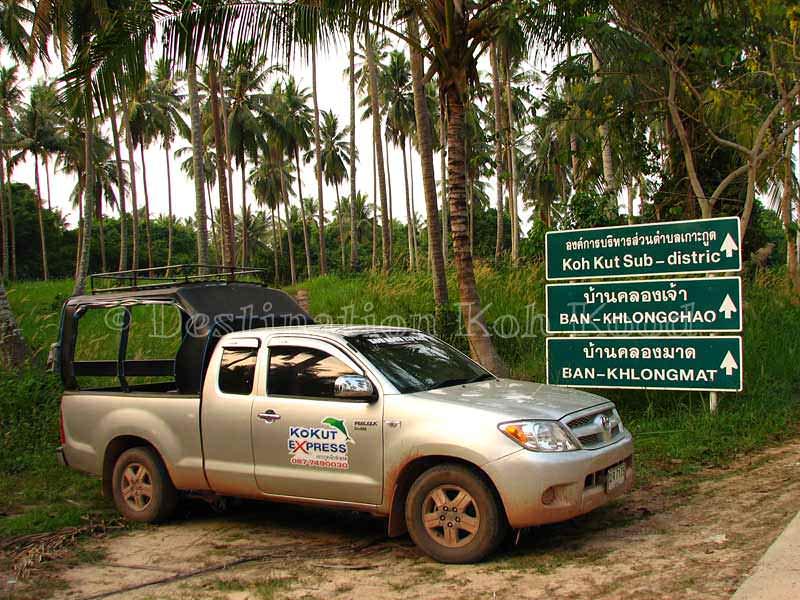 Ko Kut Express taxi on Koh Kood - Boats to Koh Kood