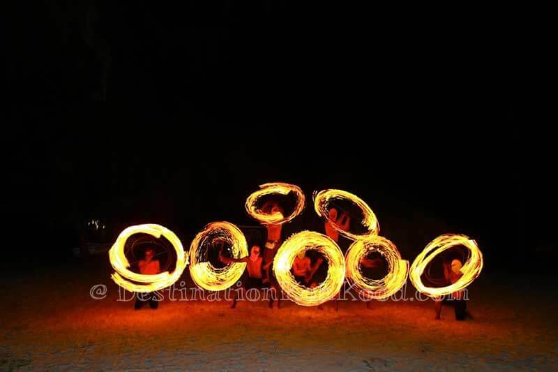 Fire Show (Beach) - Captain Hook Resort
