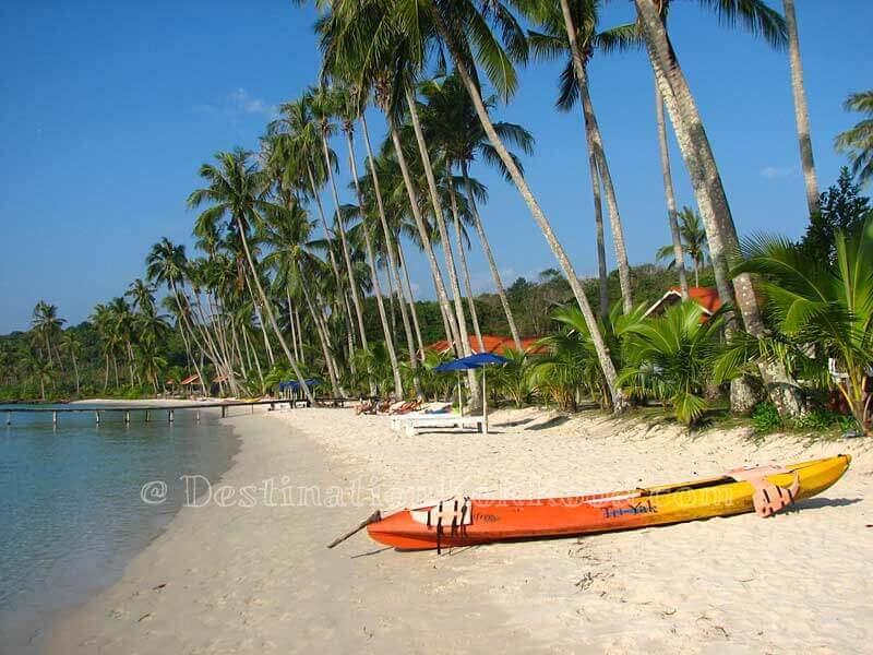 Just after high tide at Siam Beach Resort - Bang Bao Bay