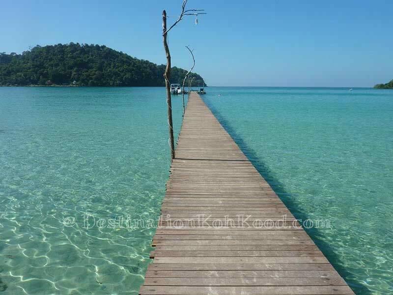 Pier of Koh Kood Resort - Bang Bao Bay