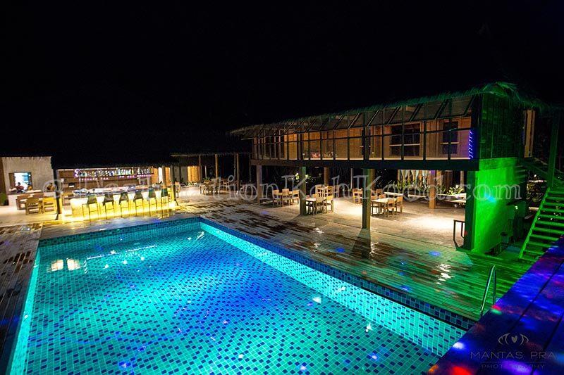 Swimming Pool @ night - Jungle Koh Kood Resort