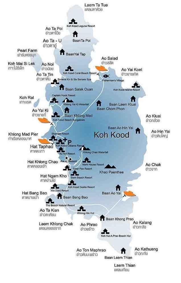 Map of Koh Kood   2016   DestinationKohKood.com